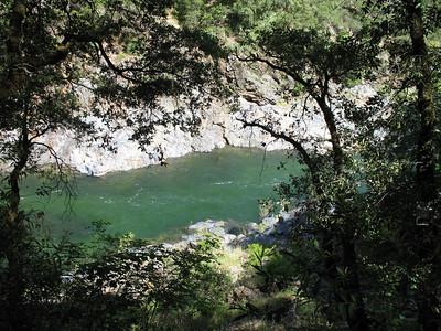 Swift-flowing river, deep pool.