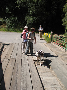 Our group checking out the bridge.