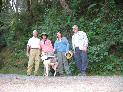 Our group for today: Rich, Linda, Monica, Frank (yours truly) and Brandi, the best hiking dog I've ever met.