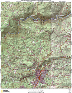 Our hike route, approx 9 miles round-trip, 1900' elev gain/loss. Along the South Fork of the Yuba River, a few miles north of Nevada City.
