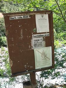 Park sign board.