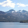 Caples Lake panorama, from left: Elephants Back, Black Butte, Round Top Peak, The Sisters, Fourth of July Peak, Melissa Coray Peak.