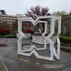 Sculpture at EDD Plaza.