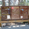 Trailhead sign at Carson Pass.