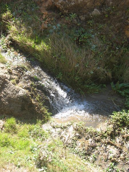 Waterfall in little creek.
