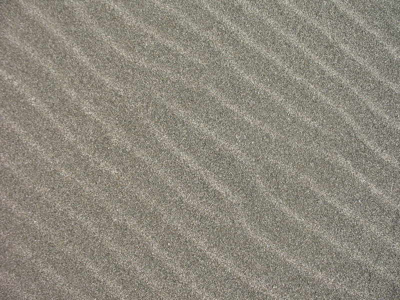 Wind patterns in the sand.
