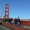 On the Golden Gate Bridge.
