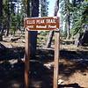Ellis Peak Trailhead sign.