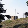 Solar-powered shack near Kirkwood snow fence.