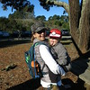 Linda and Dominic, just about ready to start hiking!