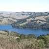 Zoomed photo of San Pablo Reservoir from Wildcat Peak. Photo by Rich.