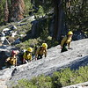 The fast hikers in our group decided to follow the speedy fire crew up the slabs.