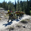 .... and back comes the USFS fire crew, nearly done with their speedy march up to the railroad tracks and back. Very polite, very professional. We said our thanks and wished them a great day and safe fire season!