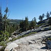 We reached the granite slabs on the lower part of the trail, and all of a sudden a US Forest Service fire crew shows up!