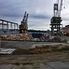 Empty drydock.