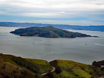 Angel Island from Slacker Hill.