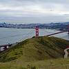 Golden Gate panorama from Slacker Hill summit.