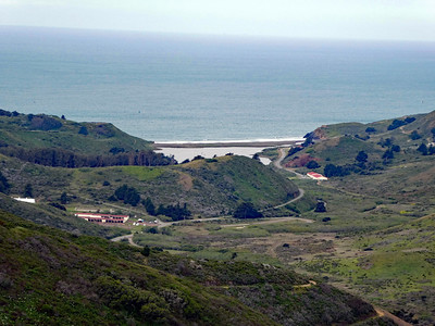 Rodeo Lagoon from Slacker Hill.