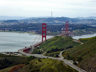 The Golden Gate Bridge, Presidio of San Francisco, Sutro Tower.