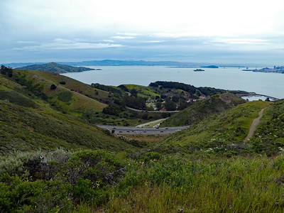 Fort Baker and San Francisco Bay from the Slacker Trail.