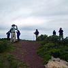 Hikers on Slacker Hill summit.