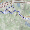 Our route for today. Out-and-back from the Donner Pass Sno-Park near Boreal Ridge Ski Resort. We traveled just over 2.6 miles, with about 430 feet gain/loss.