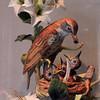Porcelain bird sculpture.