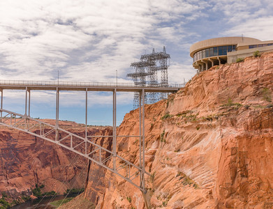 Glen Canyon Dam and Colorado River Bridge