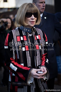 Anna Wintour pendant la London Fashion Week.
