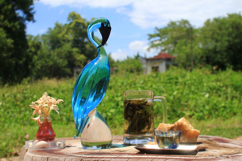 Murano bird & herbal tea from wild flowers