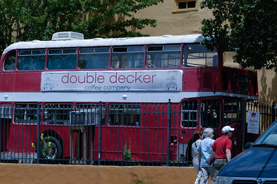 Life in Asheville on a Double Decker Bus
