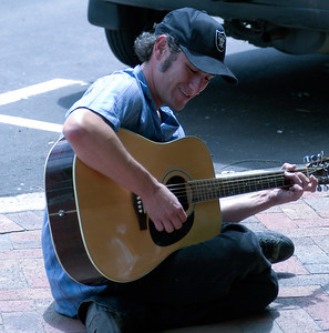 Street Musician in Downtown Ashe ville