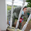 The 25th annual United Way Day of Caring was held on Friday, September 18, 2020. Many came out to volunteer to help work on projects in North Central Massachusetts. Volunteer Paul Brassard works on painting the gazebo at Sholan Farms in Leominster. SENTINEL & ENTERPRISE/JOHN LOVE