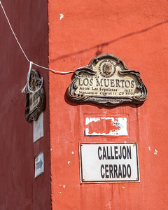 Appropriately named street by the San Juan de Dios cemetery