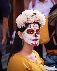 Day of the Dead young woman