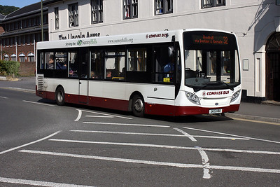 Compass Bus 1111-SK15 HBD at Dorking Railway Station.