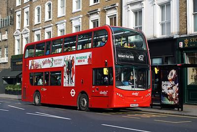 Abellio 2477-SN64 OFB at Kensington Church Street, Notting Hill.