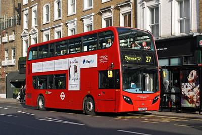 London United ADH 25-YX62 FDD at Kensington Church Street, Notting Hill.