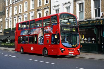 Metroline 1407-LK13 BHY at Kensington Church Street, Notting Hill.
