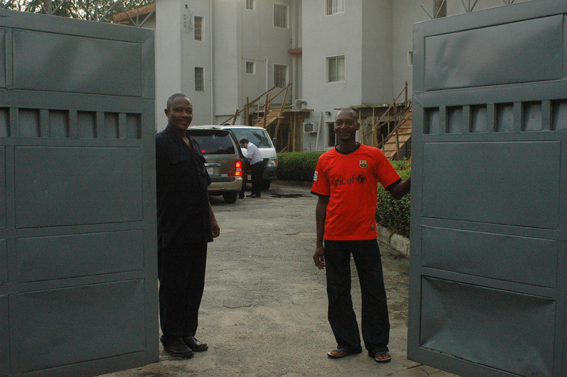 Two of the security men helping to keep us safe