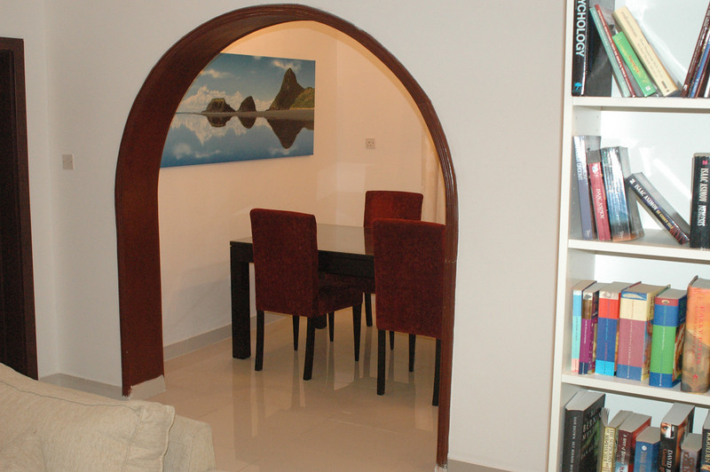 The dining room with the Back Beach painting