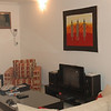 The living room with our Lekki market painting