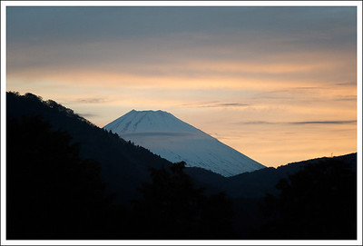 Mt. Fuji from Highway 1, near Lake Ashi.