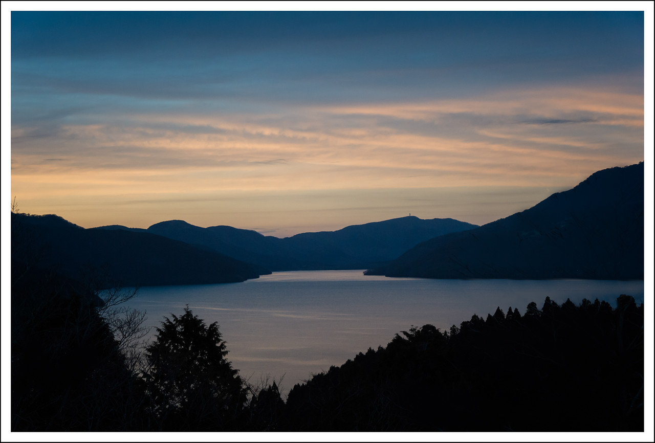 Lake Ashi seen from Highway 1.