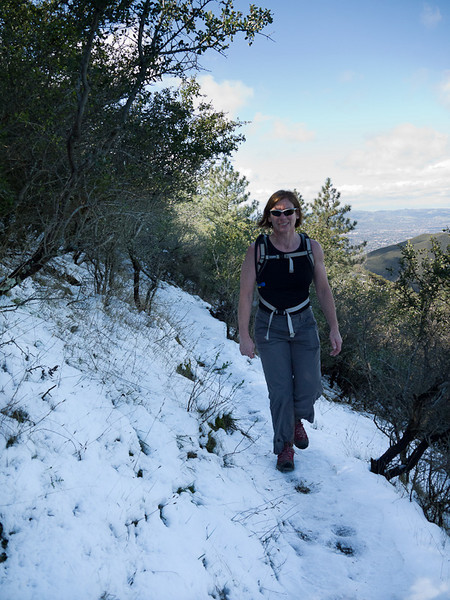 Solidly snowy at 1800 feet.