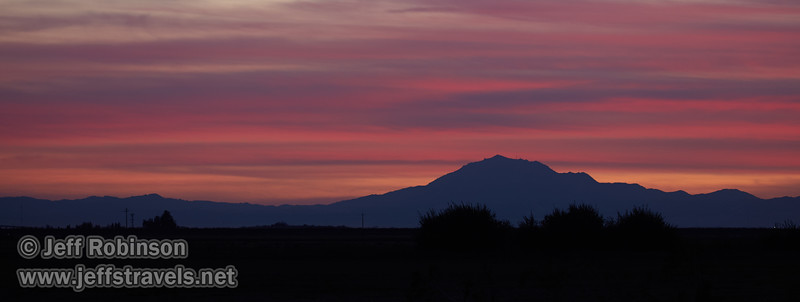 A distant Mt. Diablo under sunset clouds  (10/12/2016, Woodbridge Ecological Reserve, South Unit)<br /> EF100-400mm f/4.5-5.6L IS II USM @ 170mm f5.6 1/13s ISO400