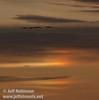 4 sandhill cranes flying in against sunset colors with a sun dog (10/4/2009, Isenberg Sandhill Crane Reserve near Lodi, CA)