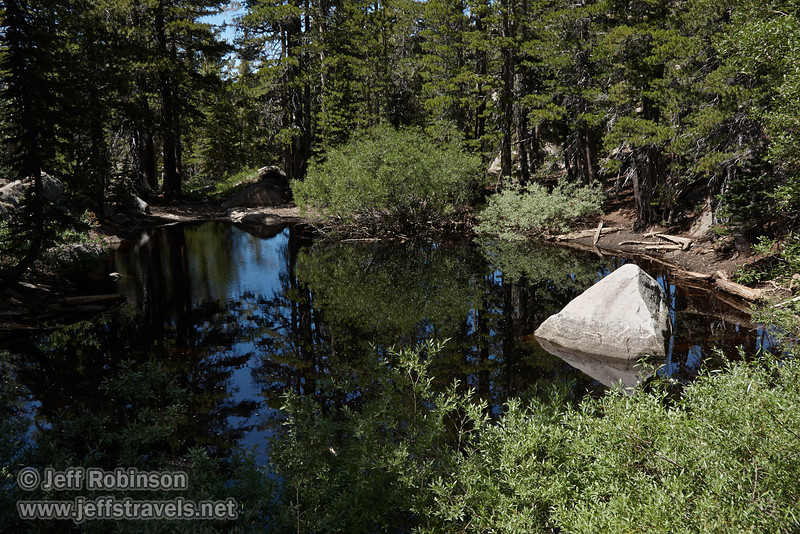 A triangular-shaped rock in a pond near the trail head (8/13/2011, Carson Pass to Frog Lake hike)<br /> EF-S17-85mm f/4-5.6 IS USM @ 28mm f8 1/160s ISO160