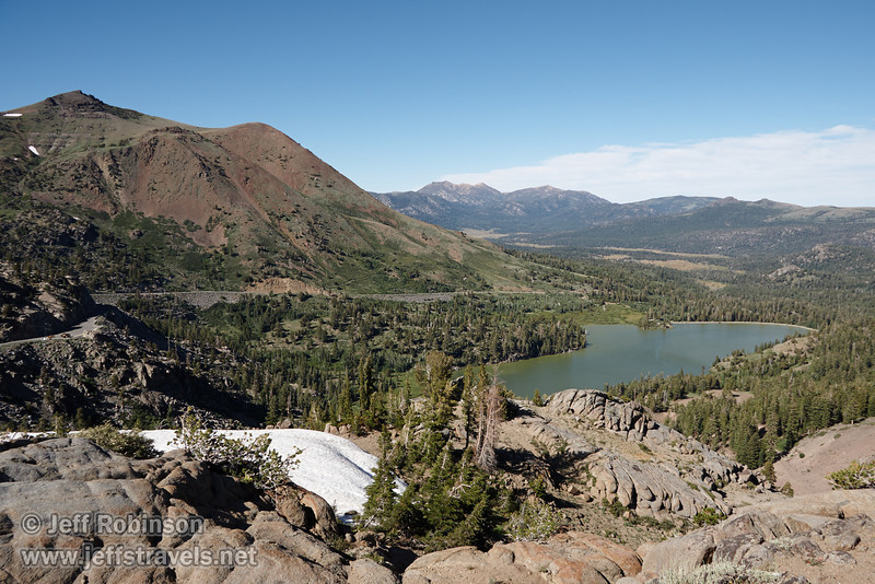 NE view of Red Lake and Red Lake Mountain, seen from the NE side of Frog Lake. (8/13/2011, Carson Pass to Frog Lake hike)<br /> EF-S17-85mm f/4-5.6 IS USM @ 17mm f9 1/250s ISO160