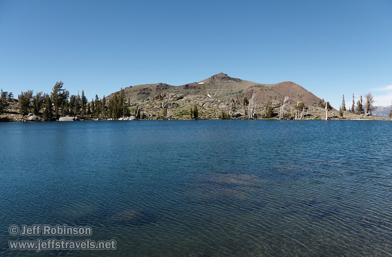 Northerly view of Red Lake Peak over Frog Lake (8/13/2011, Carson Pass to Frog Lake hike)<br /> EF-S17-85mm f/4-5.6 IS USM @ 20mm f8 1/320s ISO125